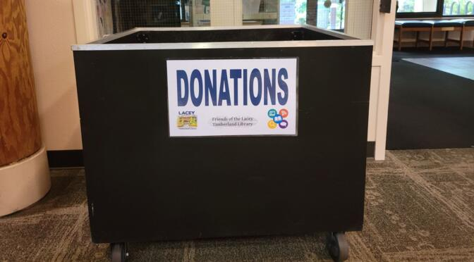 July 1: Book Donations Happily Accepted!!