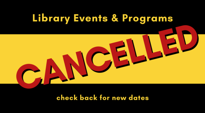 All Lacey Library Events are cancelled